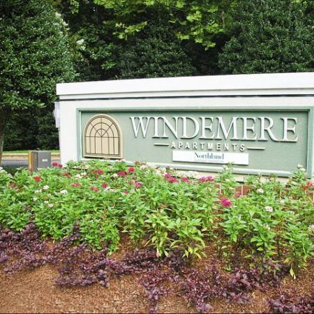 Windemere apartments entrance monument in Raleigh NC
