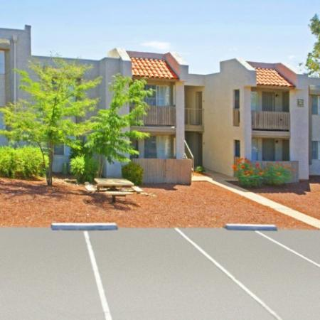 Two story apartment homes with parking lot | Tucson AZ rentals