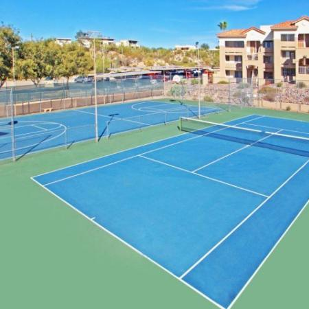 Tennis courts | Apartment amenities | Promontory