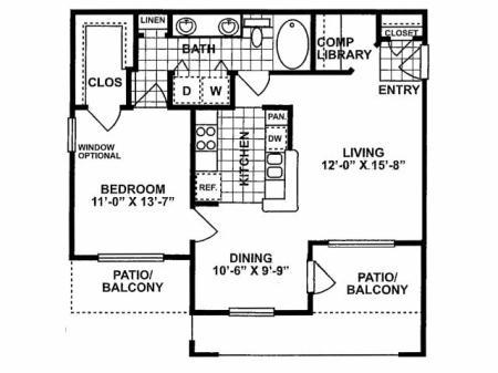 1X1 B Floorplan