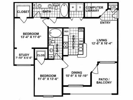 2X2 D Floorplan