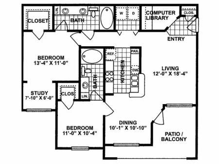 2X2 C Floorplan