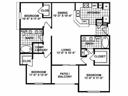 3X2 H Floorplan