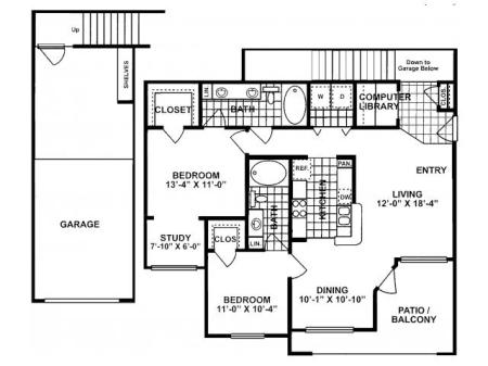 2X2 F Floorplan