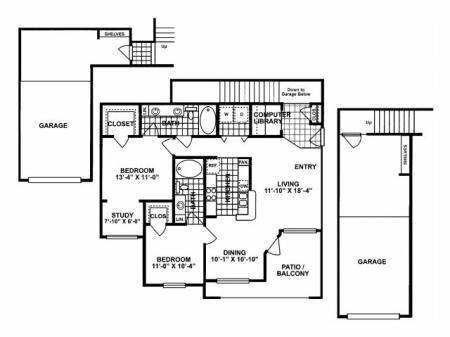 2X2 G Floorplan