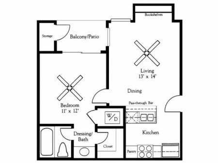 1x1A Floorplan