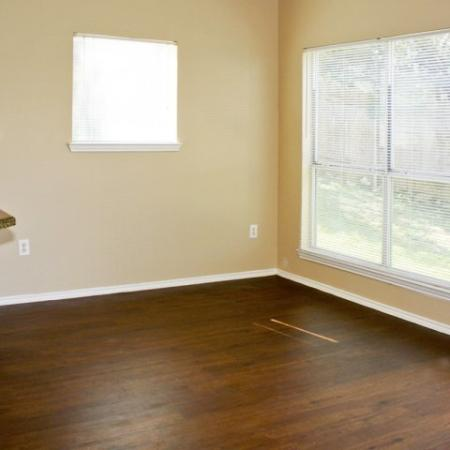 Dining room | hardwood floors | Madison at the Arboretum apartments