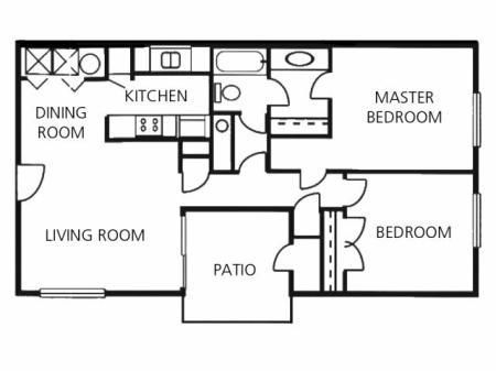 Two Bedroom One Bath