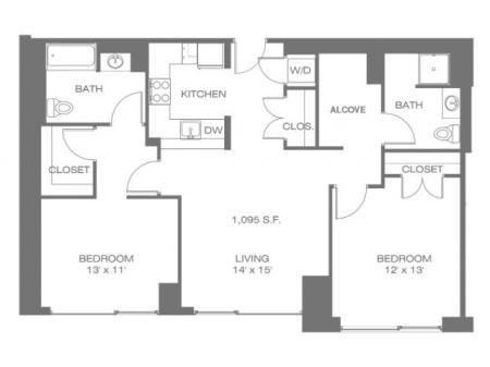 Two Bedroom W/Alcove