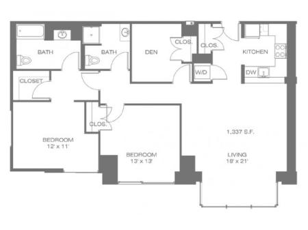 Two Bedroom W/Den