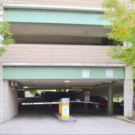Entrance to private attached parking garage | Residences at Manchester Place