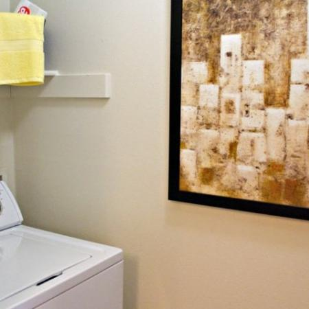 In-home laundry | South Austin apartment home