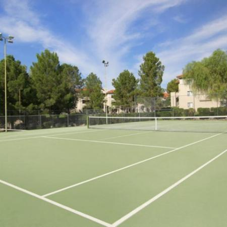 Tennis court at Tucson rentals