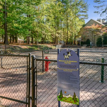 Dog Park at Windemere | pet friendly apartments in Raleigh