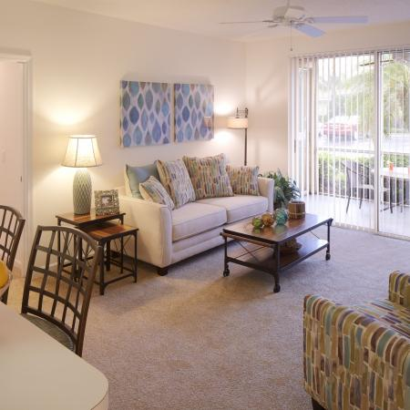 Living room | Monterra at Bonita Springs apartments