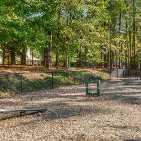 Dog park with agility equipment | pet friendly rentals in Raleigh