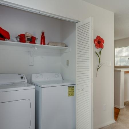 In-home washer and dryer | Windemere 1 bedroom apartment in Raleigh NC