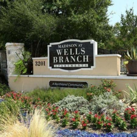 Entrance to Madison at Wells Branch | Austin TX apartments