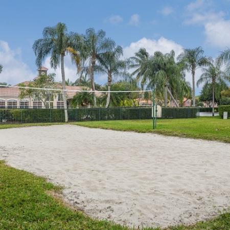 Sand volleyball court at Royal St George apartments