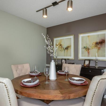 1 bedroom apartment dining room | Village Place