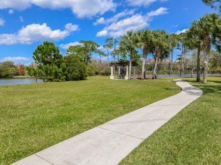 Jupiter FL rental with walking trail