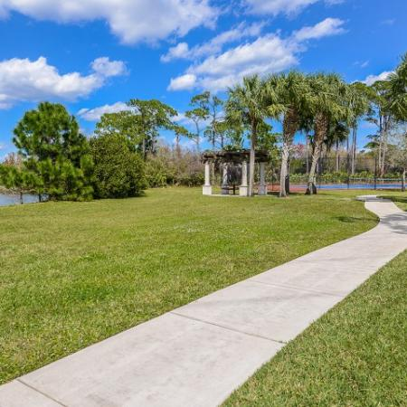 Jupiter FL rental with walking trail