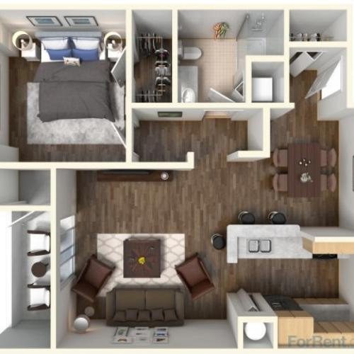 1 Bedroom Apartment Floorplan