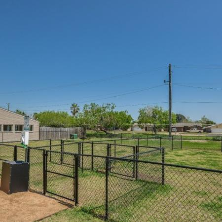 Dog park at Corpus Chrisit apartments