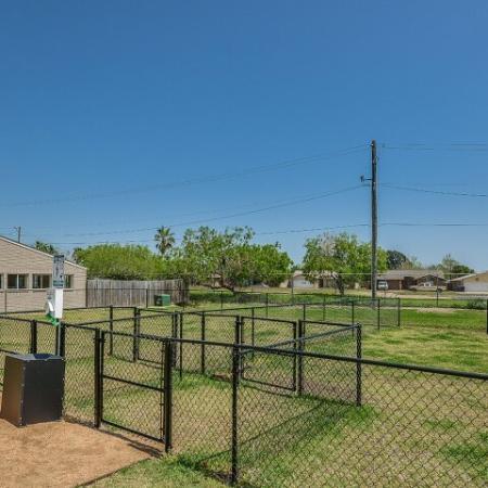 Dog park at Corpus Chrisit apartments