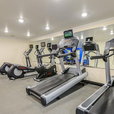 Fitness center at Candlewood apartments