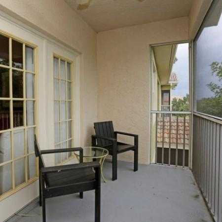 Fort Myers apartments | screened balcony