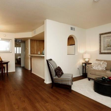 Living room and dining room | 1 bedroom rental | Promontory in Tucson AZ