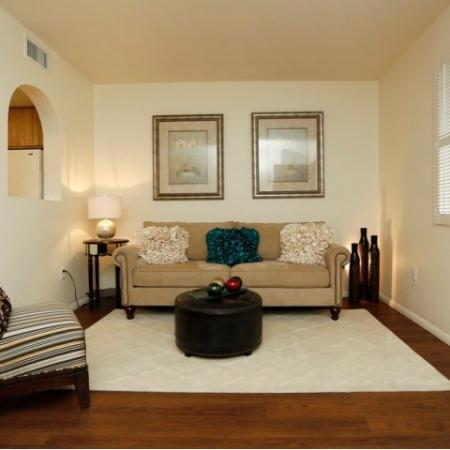 Living room | 1 bedroom apartment | Tucson rentals