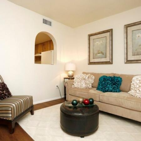 Living room | Promontory 1 bedroom apartment