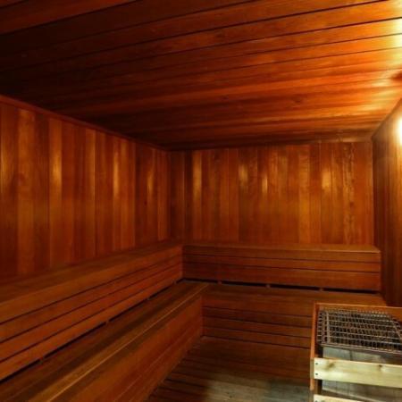 Sauna | Via Lugano fitness center | Apartment community amenities