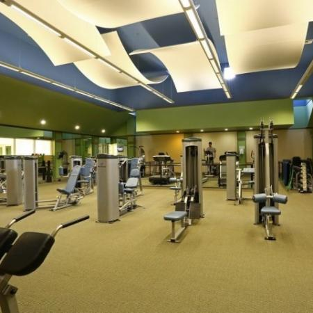 Apartment complex gym | Via Lugano rentals