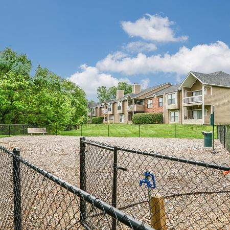Dog park at River Birch pet friendly apartments