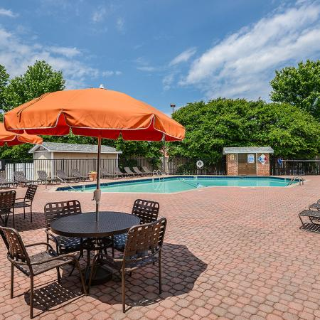 Poolside tables | Picnic Area | Randolph Park