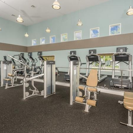 Fitness center with weight and cardio equipment