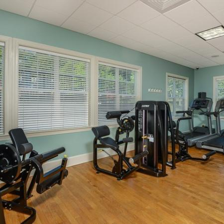 Apartment gym at Endicott Green