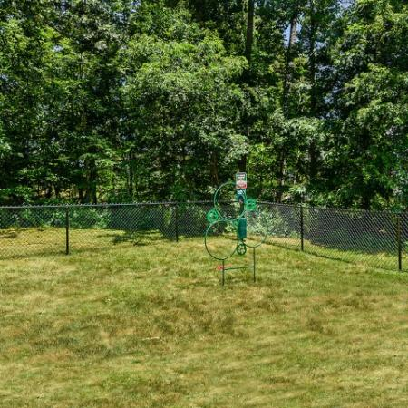 Dog park with agility equipment at pet friendly Westborough rentals