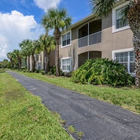 Fort Myers apartments with walking trail