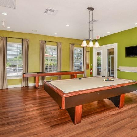 community game room at Fort Myers apartments