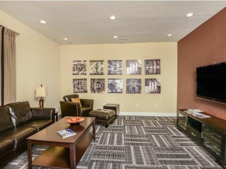 Movie room in Bay Breeze Villas apartments