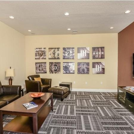 Movie room in Bay Breeze Villas apartments