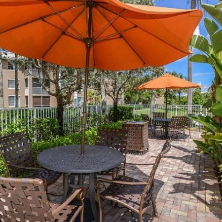 Pool sundeck | Picnic area | Promenade at Reflection Lakes | Ft Myers rentals