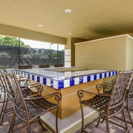 Poolside bar | Promenade at Reflection Lakes | Community areas | Apartment community