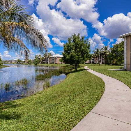 Walking path | Jogging trail | Promenade at Reflection Lakes apartment complex