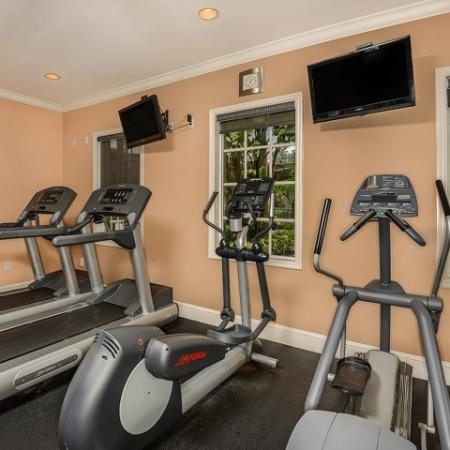 Apartment complex gym | cardio equipment | Promenade at Reflection Lakes