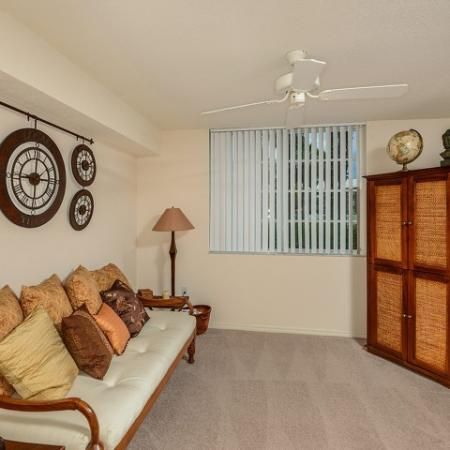 1 bedroom apartment living room | Promenade at Reflection Lakes